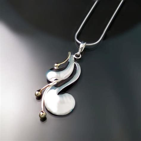 Handmade Contemporary Jewelry - modern jewelry two tone pendant zoran designs jewelry