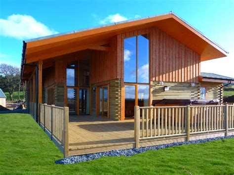 luxury log cabin holiday home in scotland hot tub sauna