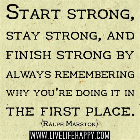 in the beginning a start to a strong finish books start strong stay strong and finish strong by always
