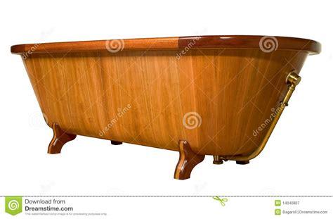 vasca da bagno legno vasca da bagno di legno unica immagine stock immagine