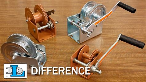 boat winch difference brake winches short version dl difference youtube
