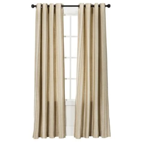 gold and cream striped curtains threshold strie vertical stripe window panel in gold
