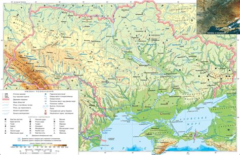 physical map of ukraine physical map of ukraine