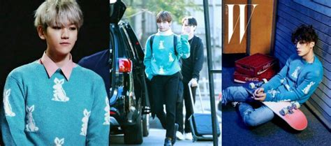 Sweater Ganteng pakai sweater kembar lebih ganteng baekhyun v atau bobby