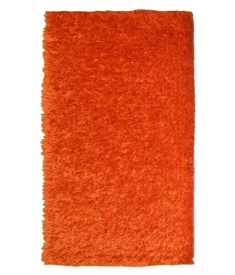 polyester rug home collection orange polyester carpet buy home collection orange polyester carpet at
