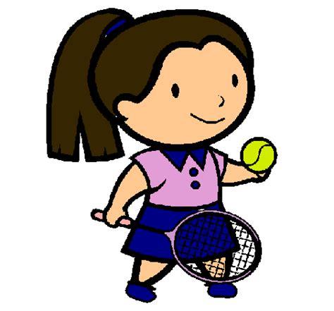 dibujos niños jugando tenis dibujo de chica tenista pintado por tenista en dibujos net