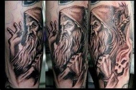 white wizard tattoo wizard tattoos black white black gray