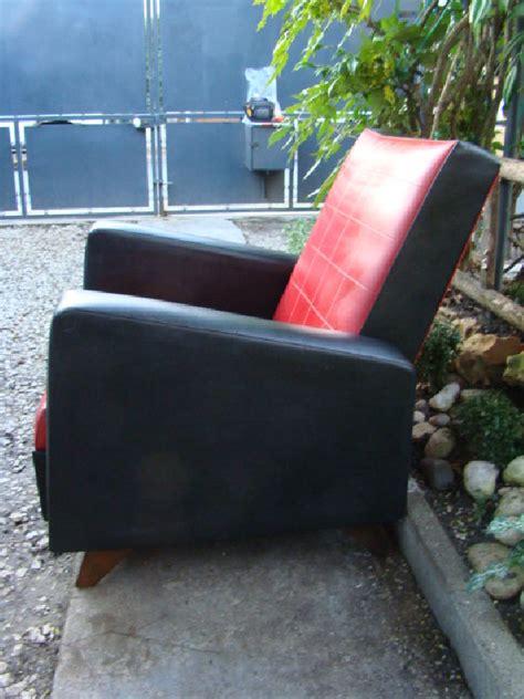 fauteuil skai noir vintage fauteuil skai noir rouge vintage 70 les vieilles choses