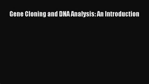 Jones And Bartlett Desk Copy by Pdf Gene Cloning And Dna Analysis An