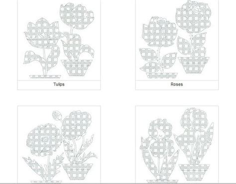 printable scratch instructions chicken scratch patterns gingham and flower on pinterest