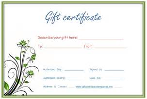 Sample Gift Certificate Template Free Gift Certificate Templates Quotes