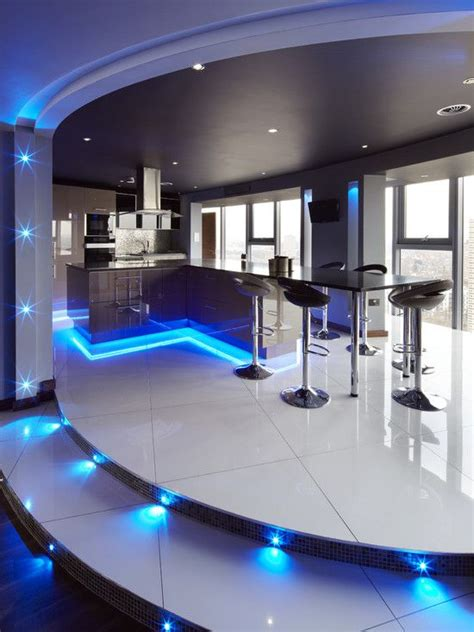interior gleaming futuristic room with blue led lights also 32 best karaoke room images on pinterest design