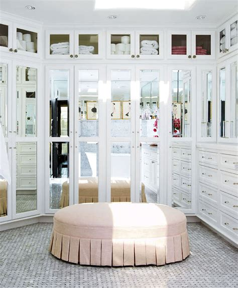 dressing room ottoman luxurious closet with mirrored doors luxurious closet