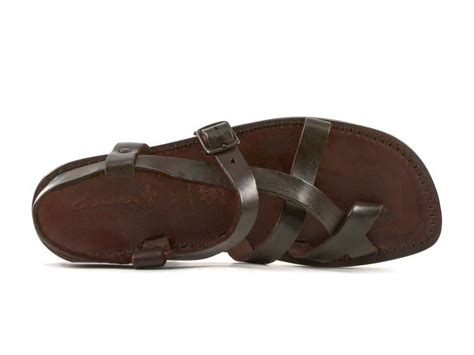 Mens Handmade Leather Sandals - handmade s sandals in brown leather italian