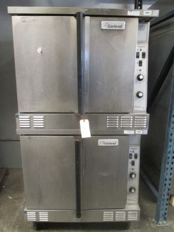 garland double stack gas heated convection oven propane