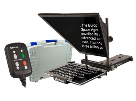 teleprompter controller ipad autocue teleprompter package portable autocue for