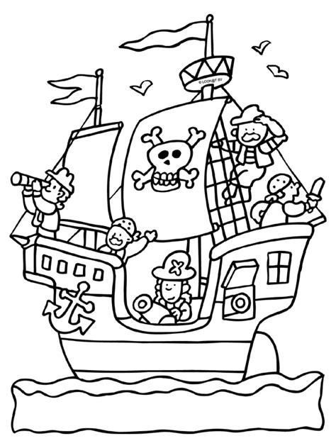 piraat piratenschip knutselpagina nl knutselen