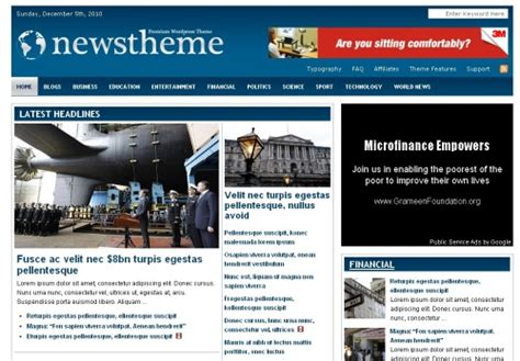 newspaper theme word 2010 40 top premium magazine themes for wordpress corpocrat
