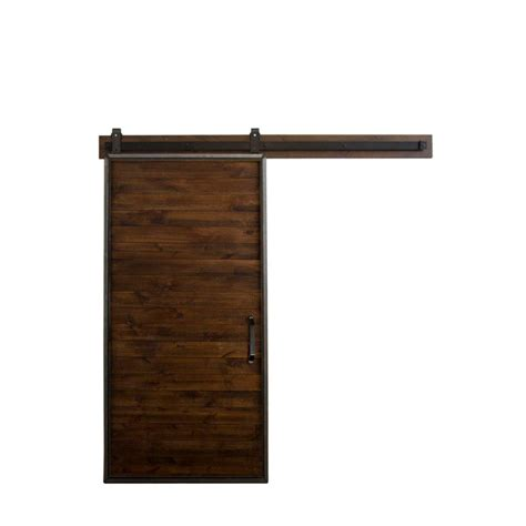 Sliding Barn Door Home Depot Rustica Hardware 36 In X 84 In Mountain Modern Home Depot Grey Wood Barn Door With Mountain