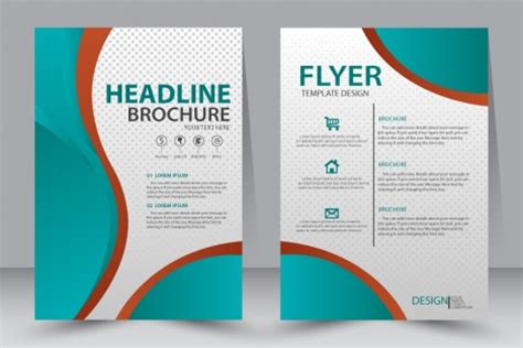 graphic flyer templates flyer template design with green illustration