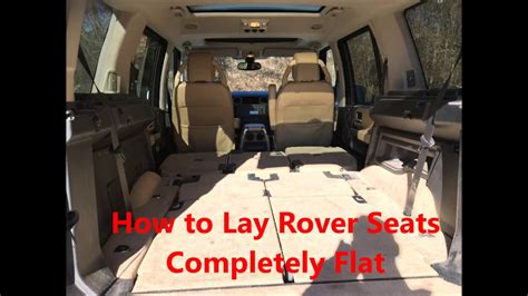 land rover discovery sport rear seats fold how to fold rover seats totally flat lr3
