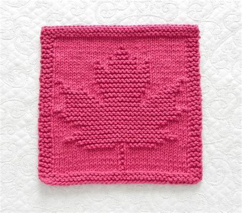 pattern to knit a leaf maple leaf knit dishcloth wash cloth by aunt susan