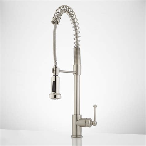 pulldown kitchen faucet rachel pull down kitchen faucet with spring spout