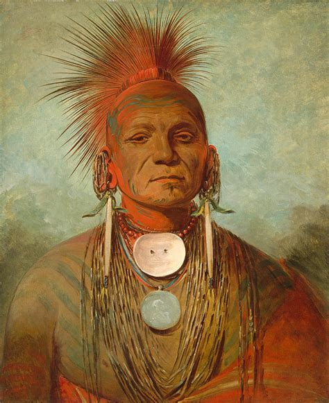 see non ty a an iowa medicine man painting by george catlin