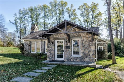 Gable Roof House Plans by Rustic Stone Cottage Kelly And Co Design Hgtv