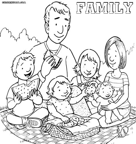 family coloring pages coloring pages to download and print