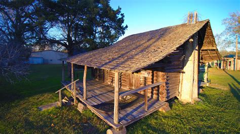 Juniors Log Cabin by Authentic 1800s Log Cabin Preserved For All To See In