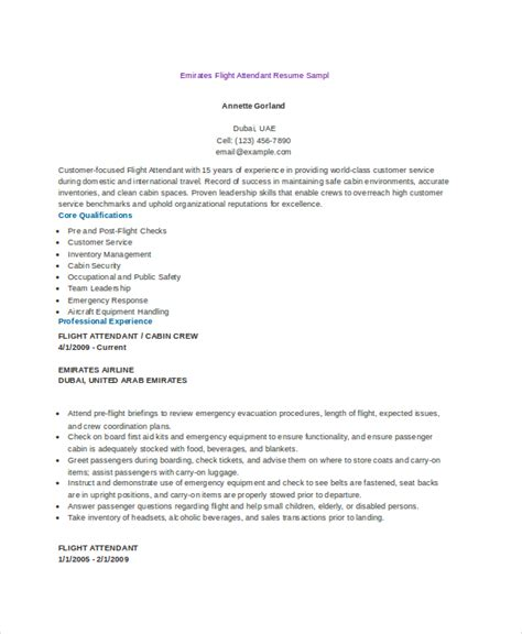 flight attendant resume sles flight attendant resume