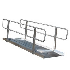 Shop 5 ft x 36 in aluminum solid entryway wheelchair ramp at lowes com