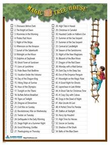 Magic Treehouse Series Book List - a checklist of all the books in the magic tree house