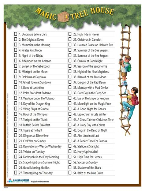 www magic tree house a checklist of all the books in the magic tree house series lily has a goal to read