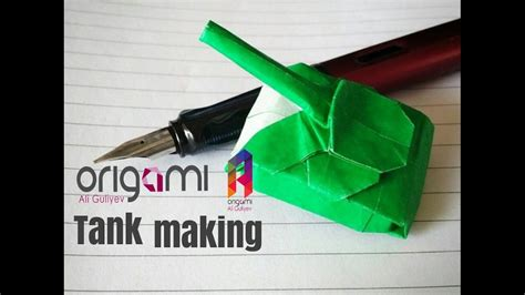 Origami Army Tank - how to make tank origami army tank module my crafts and