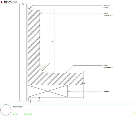 Corian Details Coved Backsplash Aia Cad Details Zipped Into Winzip