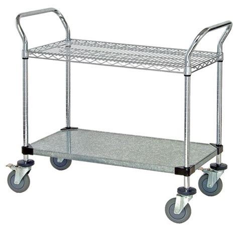 Wire Shelf Cart by Wire Shelves Solid Shelf Utility Cart Wrc 23cg All