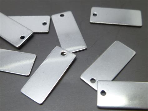 stainless steel tags blank sting metal flat tags lot 10 stainless steel sting charms pendant