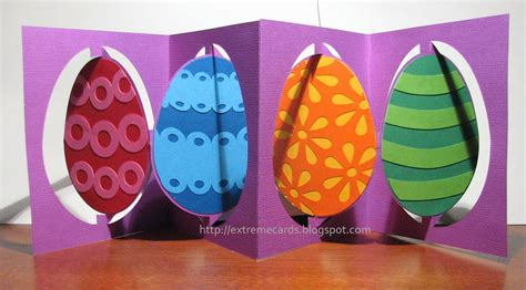 3d easter card templates easter egg accordion flip card tutorial