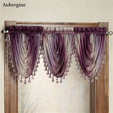 ombre semi sheer waterfall valances