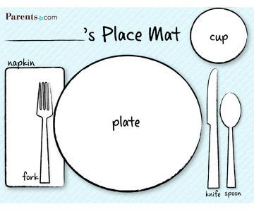 place setting template printable table setting place mats
