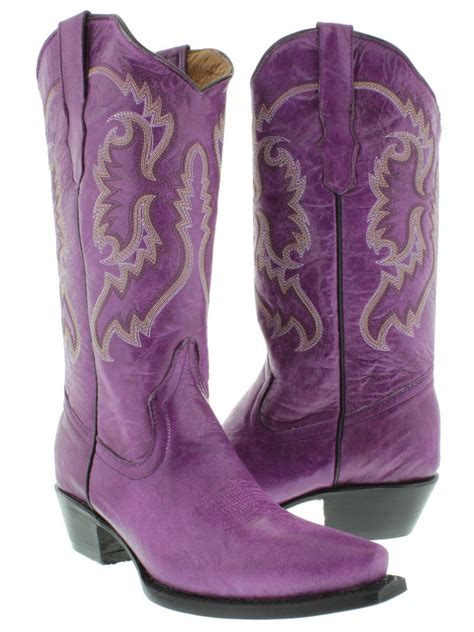 s purple casual classic western style cowboy boots