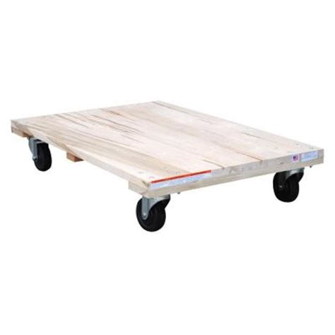 vestil 24 in x 36 in 1 200 lb solid deck hardwood dolly