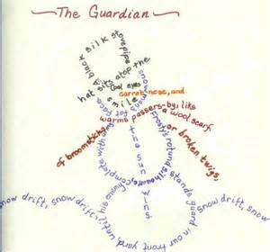 concrete poetry for winter bookmaking with kids