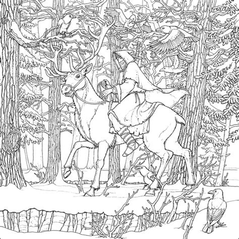 the official a of thrones coloring book pdf coldhands illustration by tomislav tomic for a of