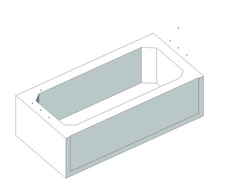 Bathtub Revit by Generic Residential Plumbing Fixtures Bim Objects Families