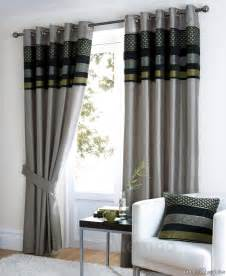 Light Grey Room by Light Grey Living Room Curtain With Black And Green Color