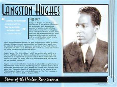 langston hughes biography harlem renaissance black history online wax museum langston hughes