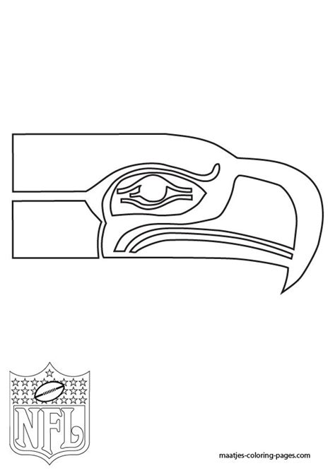 seahawks coloring pages seattle seahawks logo nfl coloring pages pigskin